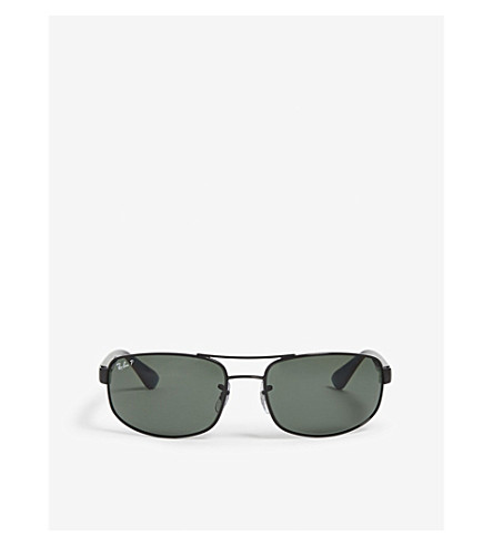 86dda55f5da8b RAY-BAN - Aviator rectangle sunglasses   Selfridges.com