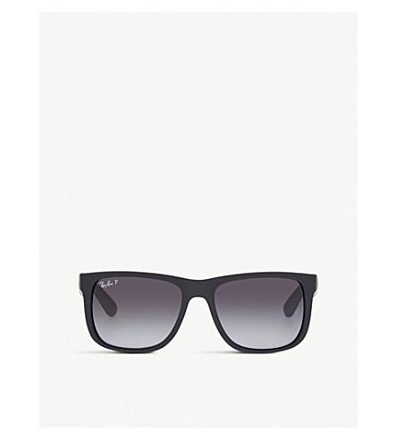 818e443876d ... RAY-BAN Square polarised sunglasses (Black rubber. PreviousNext