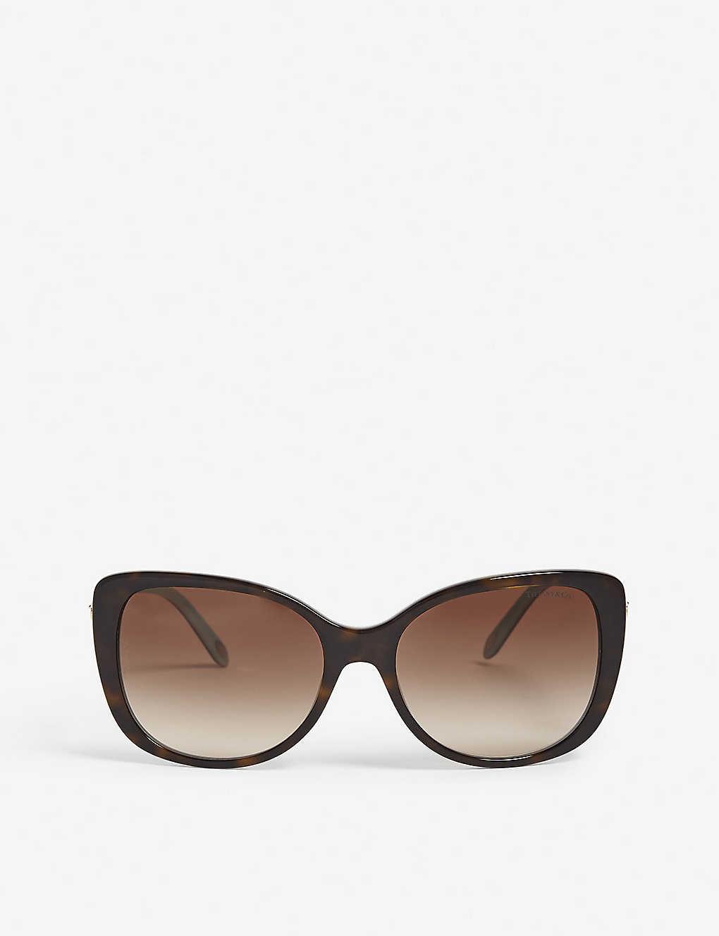d24eea418628 TIFFANY   CO - Havana rectangle-frame sunglasses