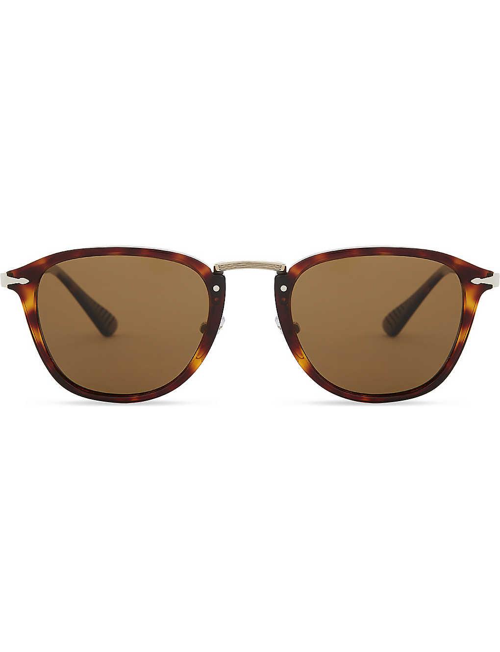 5e37dcec5b PERSOL - Calligrapher PO3165S polarised square-frames sunglasses ...