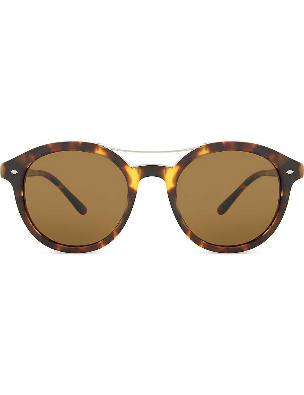 42ff4500adf GIORGIO ARMANI - AR8007 Frames of Life round-frame sunglasses ...