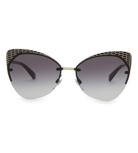 8933691c2f ... BVLGARI Bv6096 Serpenti cat-eye frame sunglasses (Matte+black gold.  PreviousNext
