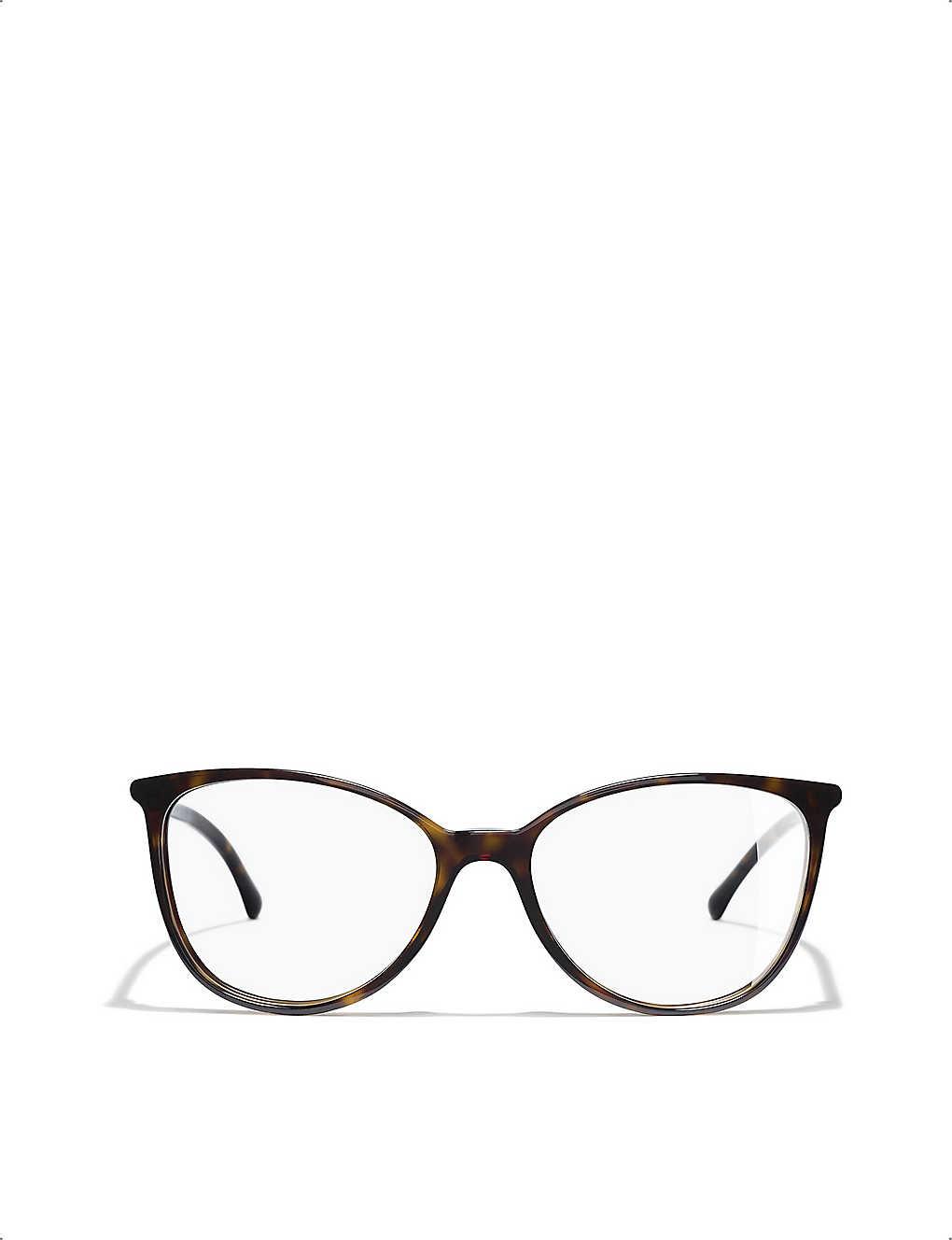 e0c79ee8a5 CHANEL - CH3373 tortoiseshell-effect cat-eye glasses