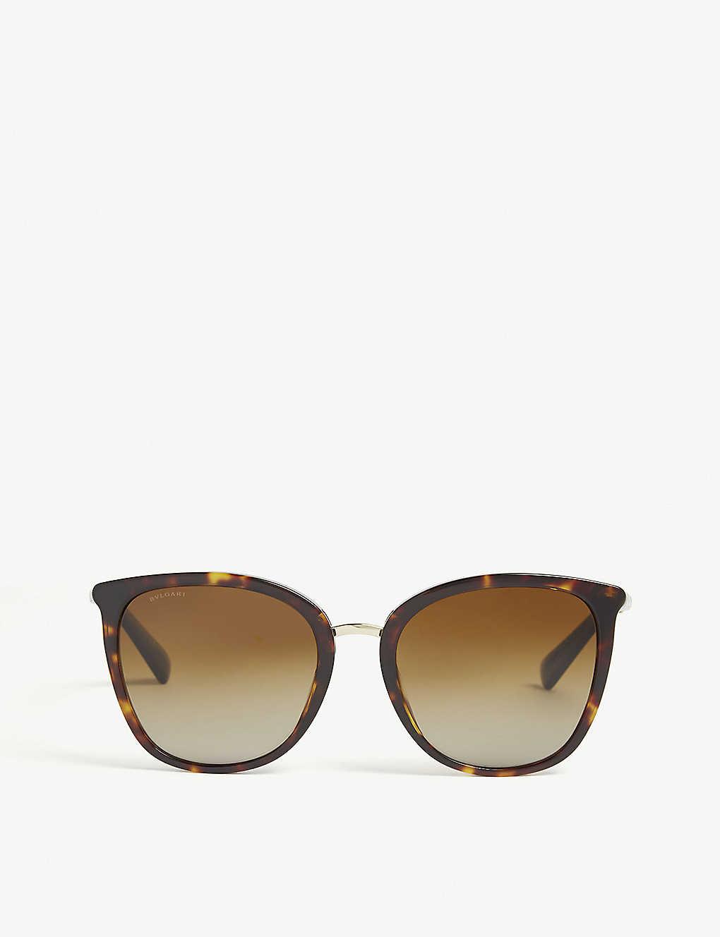 6c06c6f459 BVLGARI - Havana Bv8205kb square-frame sunglasses