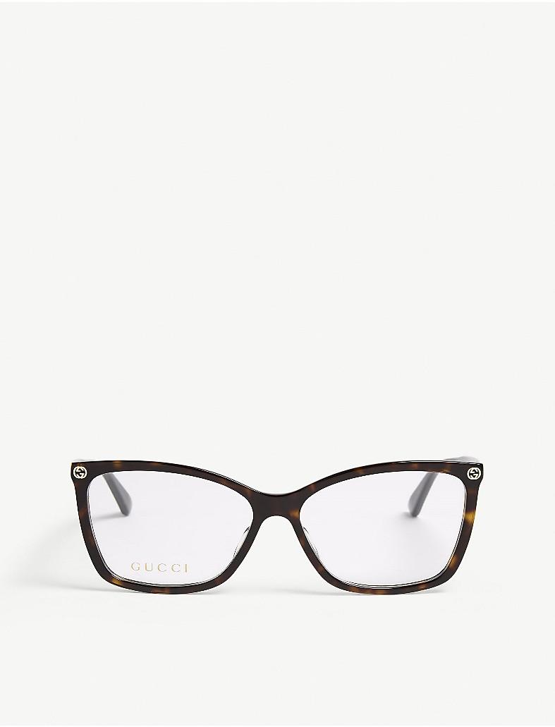 a16145a312 GUCCI - Gg0025o oval-frame glasses