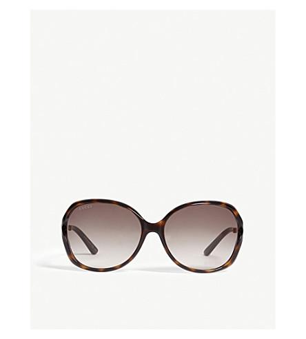 86c97cdda5d ... GUCCI GG0076S tortoiseshell round sunglasses (Tortoise. PreviousNext