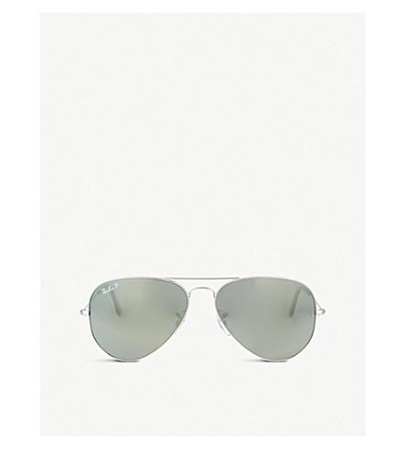 56bb0a3a348f3e RAY-BAN - Original aviator silver frame sunglasses RB3025 58 ...