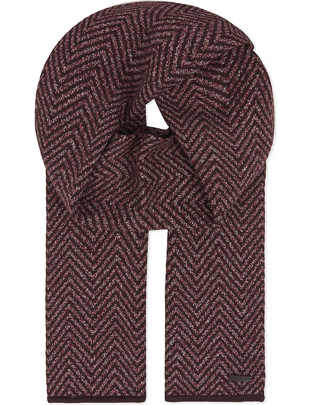 7a52d7f7e TED BAKER - Hide herringbone cotton scarf