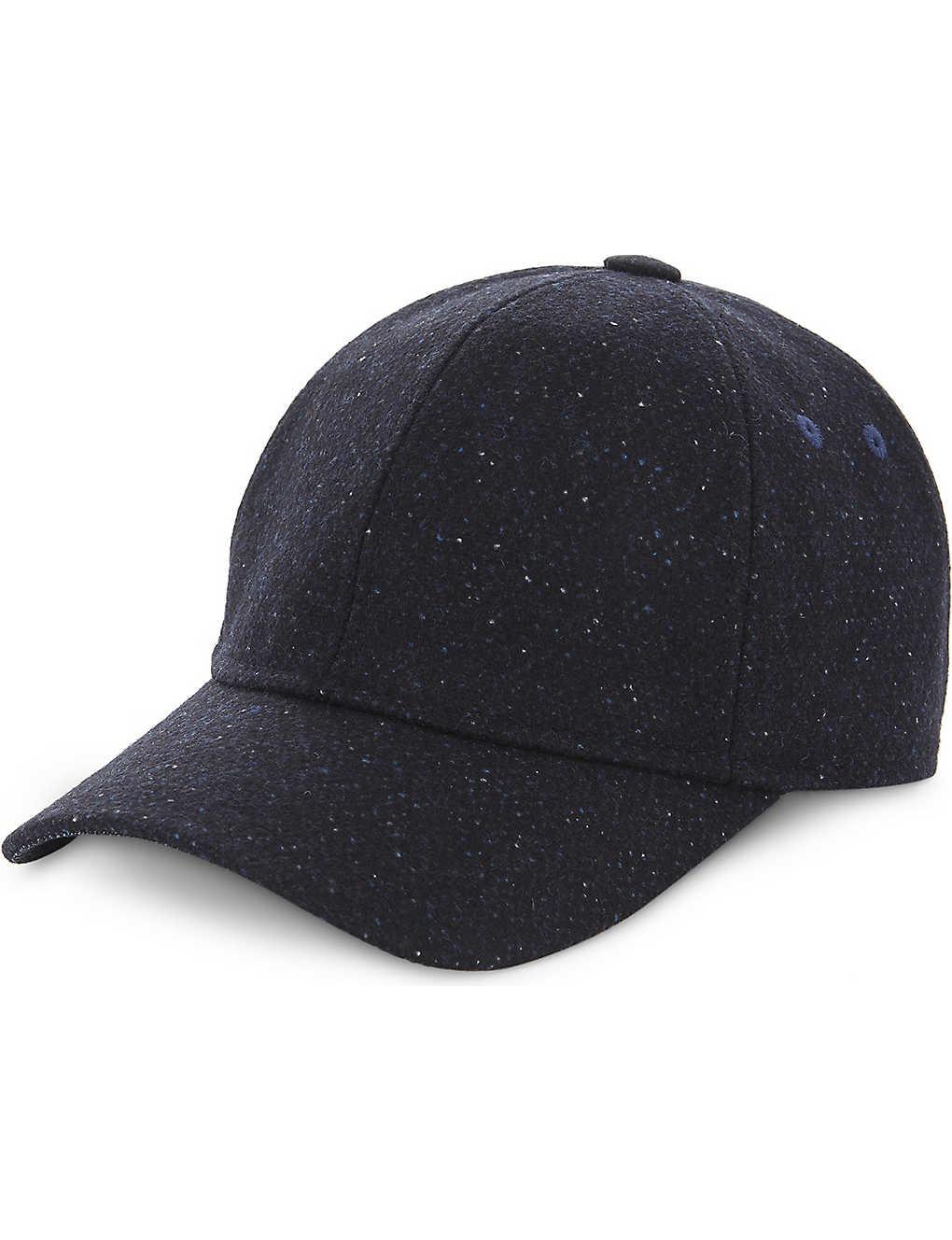 42581da90be TED BAKER - Wool textured baseball cap