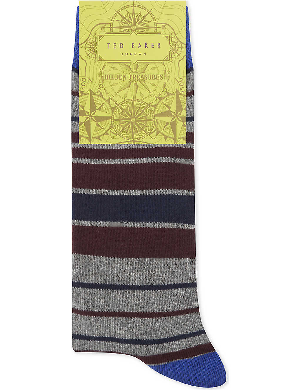 f8ad8fd4e TED BAKER - Striped organic cotton-blend socks