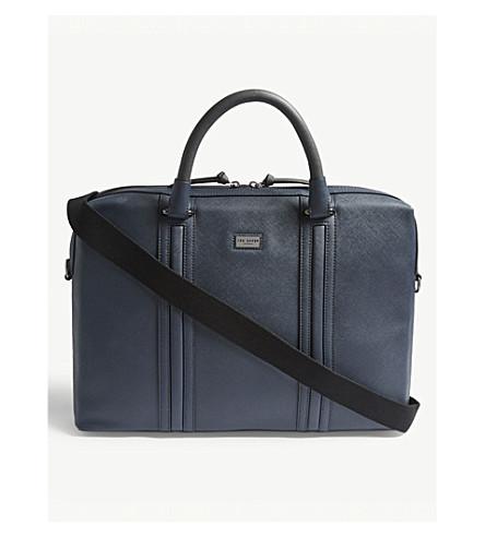 086bcf4e9f ... TED BAKER Giiza cross-grain leather briefcase (Navy. PreviousNext