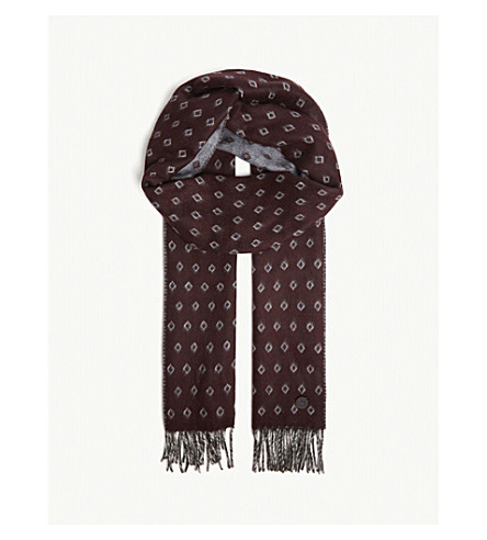 bf99797ddc68a ... TED BAKER Lifton Diamond scarf (Dark+red. PreviousNext
