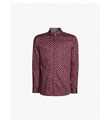 beb45dad17cfb ... TED BAKER Paisley-print regular-fit cotton shirt (Deep+purple.  PreviousNext