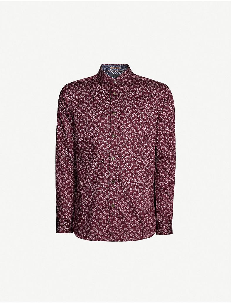 84c9bb8f3 TED BAKER - Paisley-print regular-fit cotton shirt