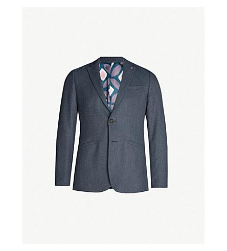7b52b7f3b ... TED BAKER Bufalo regular-fit twill blazer (Blue. PreviousNext