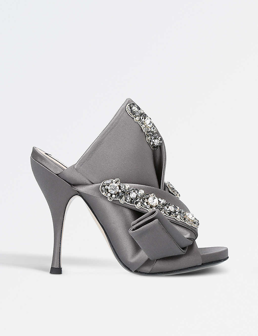 2dcd879b640e NO 21 - Bow-detail satin embellished mules