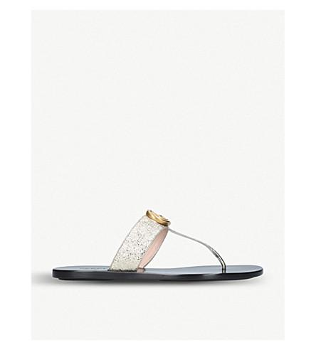 11e3e1807596 ... GUCCI Marmont leather sandals (Gold. PreviousNext