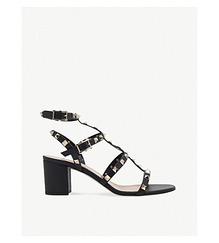 63dd4d7a6e373 ... VALENTINO Garavani Rockstud 60 leather sandals (Black. PreviousNext