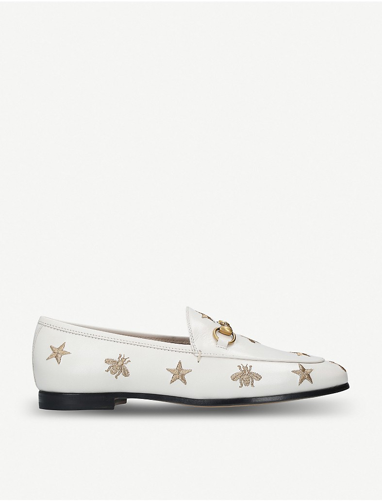 b3e0cf2b4e6 GUCCI - Jordaan embroidered leather loafers