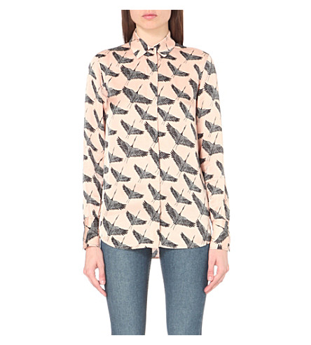 fba1a5e54f freedom-bird-print-satin-shirt by sandro