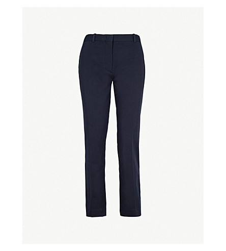 Zoom Straight Stretch Cotton Trousers by Joseph