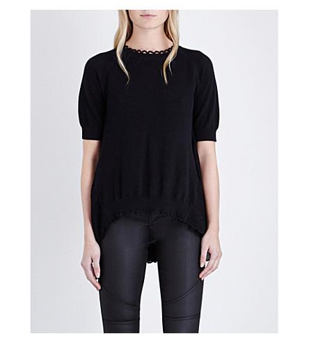 6e8e58b865ac7e ... FRENCH CONNECTION Celia scalloped knitted jumper (Black. PreviousNext