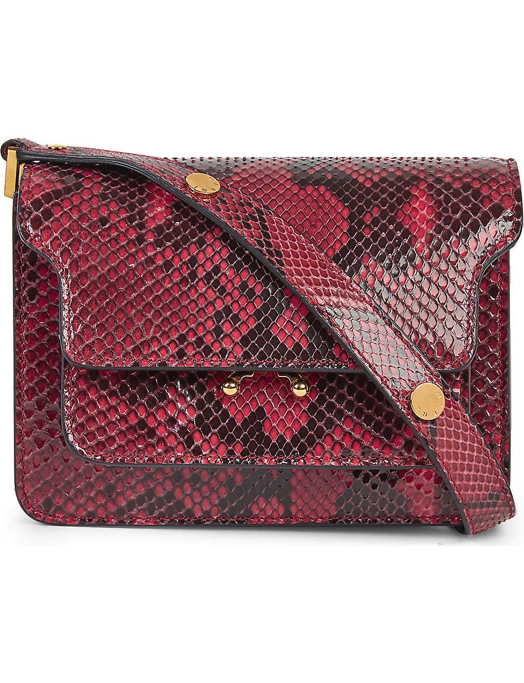 54f885cc44 MARNI - Mini Trunk python-leather shoulder bag