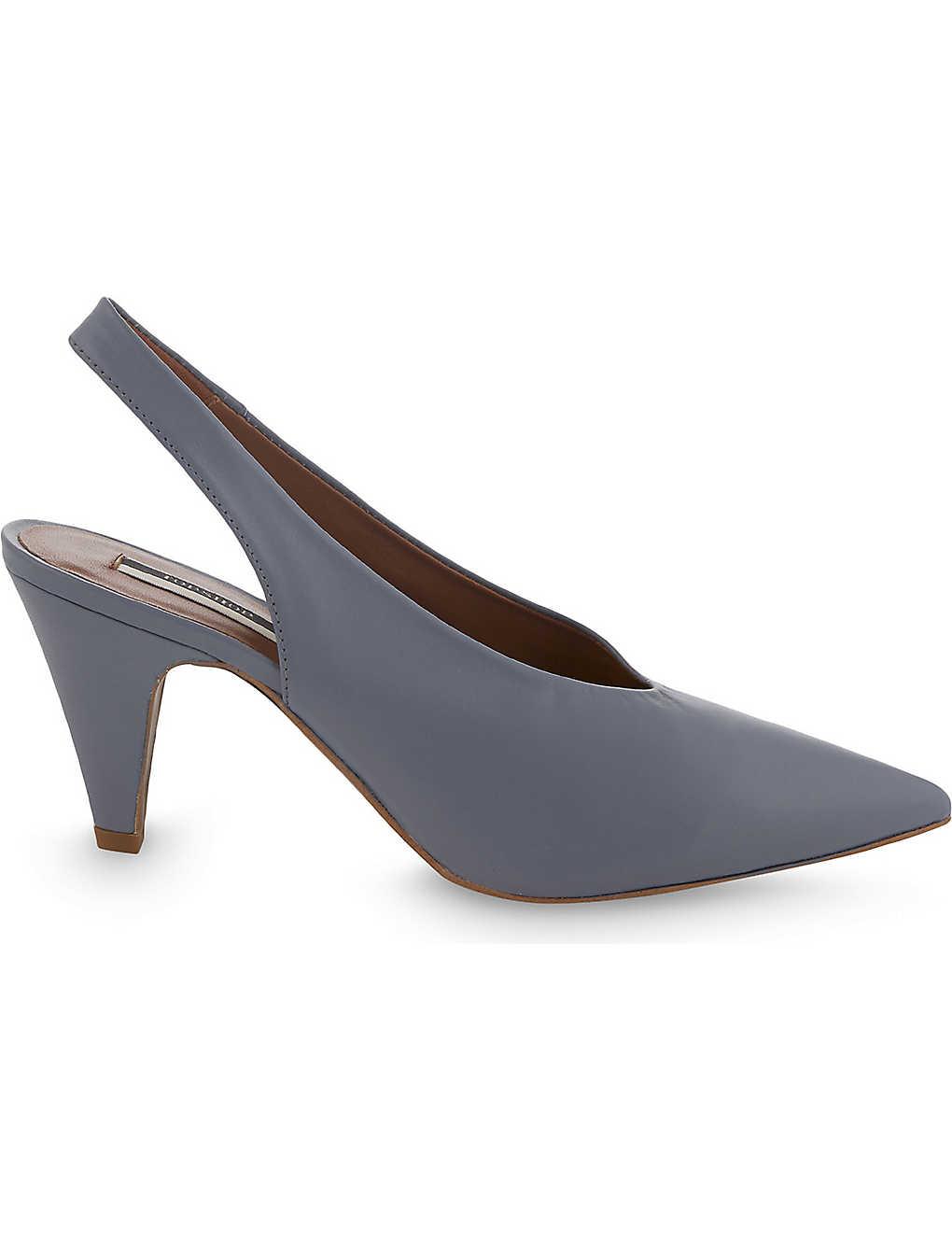 c45a3575e18 TOPSHOP - Jemma leather slingback courts