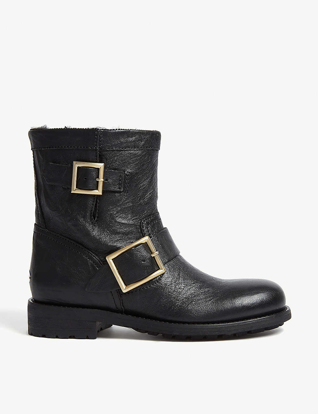 913d2f18f145 JIMMY CHOO - Youth leather biker boots