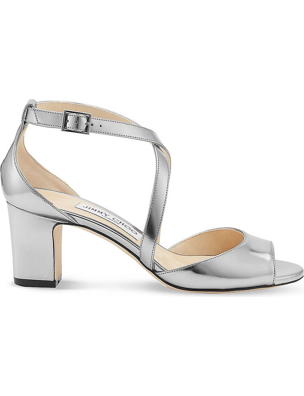 358dda3738f6 JIMMY CHOO - Carrie 65 metallic-leather heeled sandals