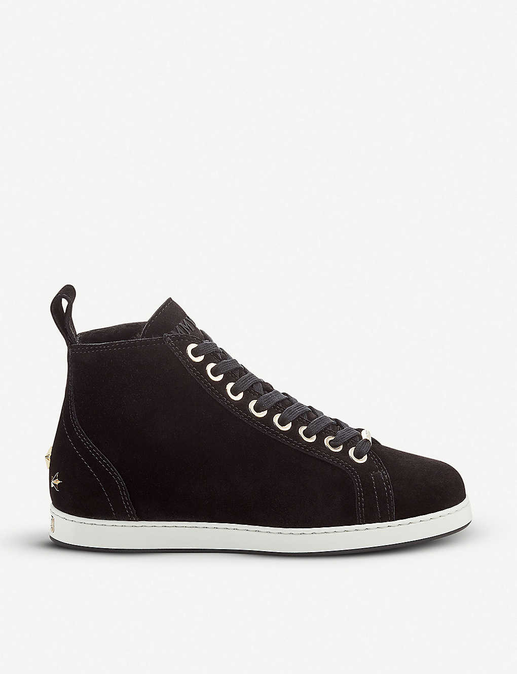 3aa14e74ef0532 JIMMY CHOO - Colt velvet hi-top trainers