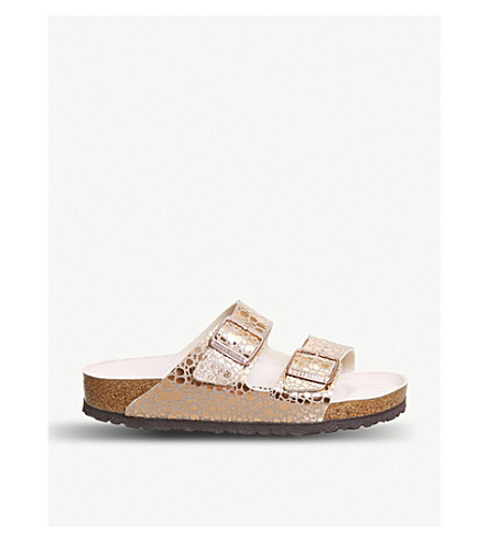 3acbba1e88fc BIRKENSTOCK - Arizona pebble-print metallic sandals