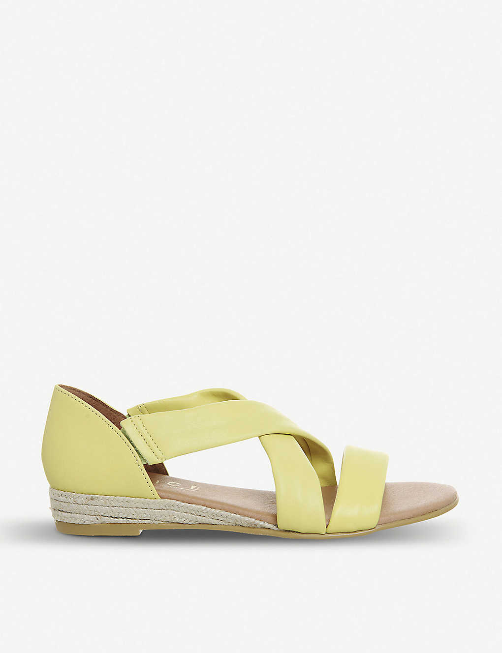 c6db0b4dbca9 OFFICE - Hallie cross-over strap espadrille leather sandals ...