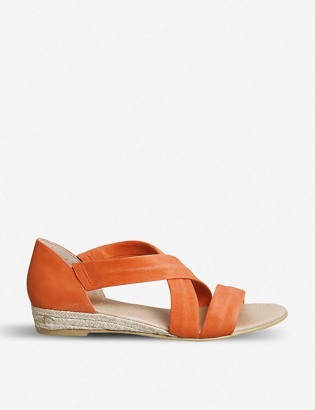 90632521e1e6 OFFICE - Hallie cross-over strap espadrille suede sandals ...