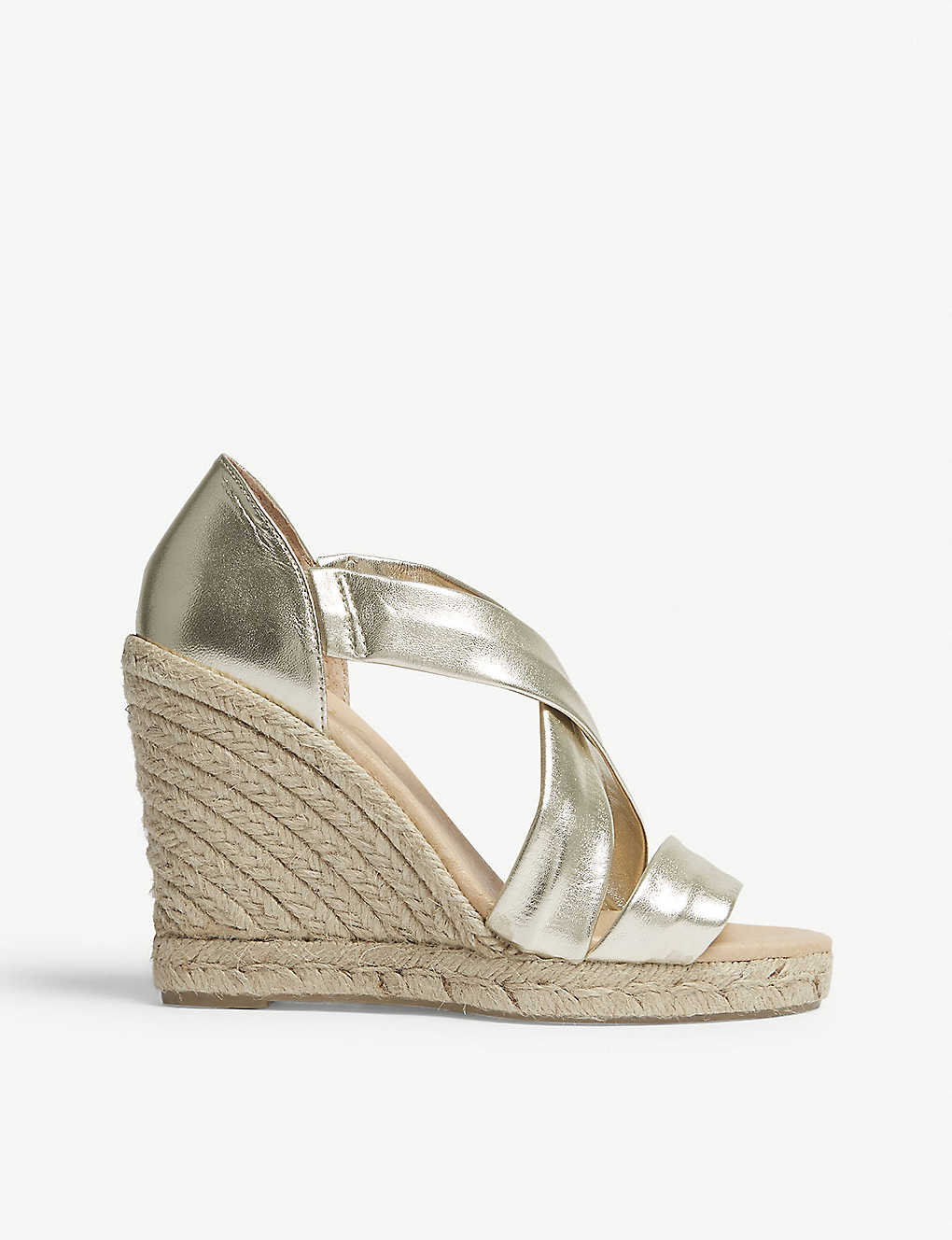 64c6505bb3 OFFICE - Holiday leather espadrille wedge sandals | Selfridges.com