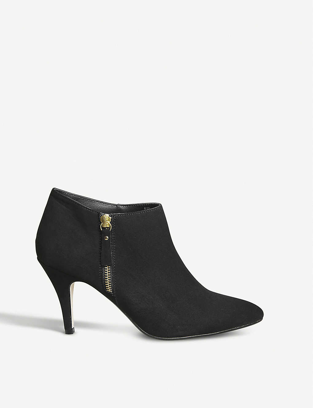 OFFICE - May zipped faux-suede ankle boots  a1df5990a9f4