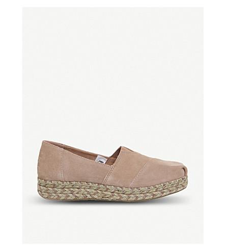 5fcfded7eac ... TOMS Platform Alpargata suede shoes (Bloom+suede. PreviousNext