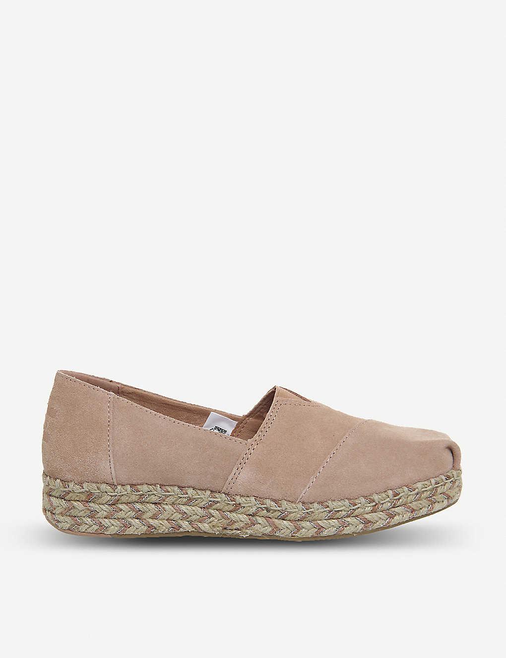 5647197cc99 TOMS - Platform Alpargata suede shoes
