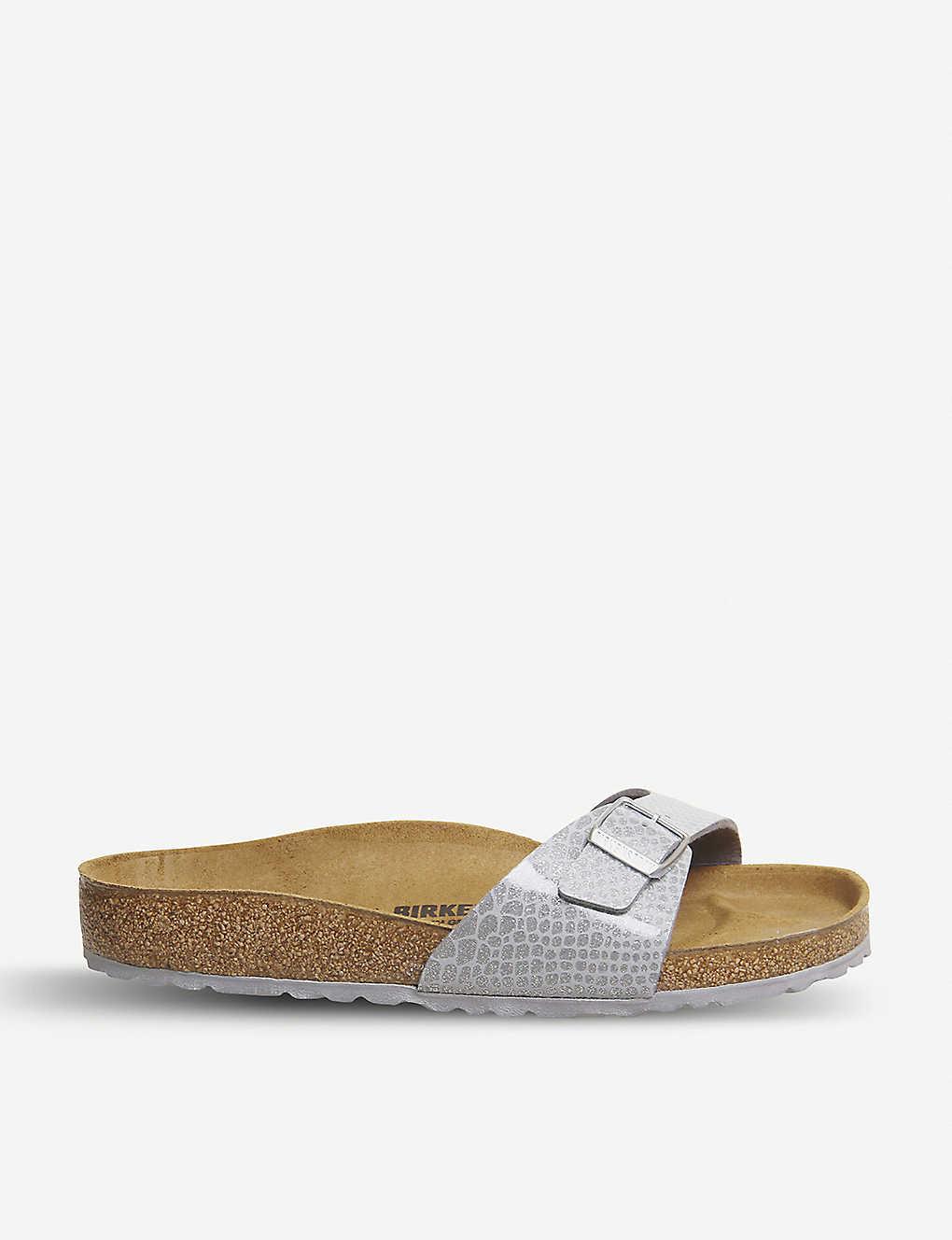 74735655f6825 BIRKENSTOCK - Madrid 1 metallic-leather sandals