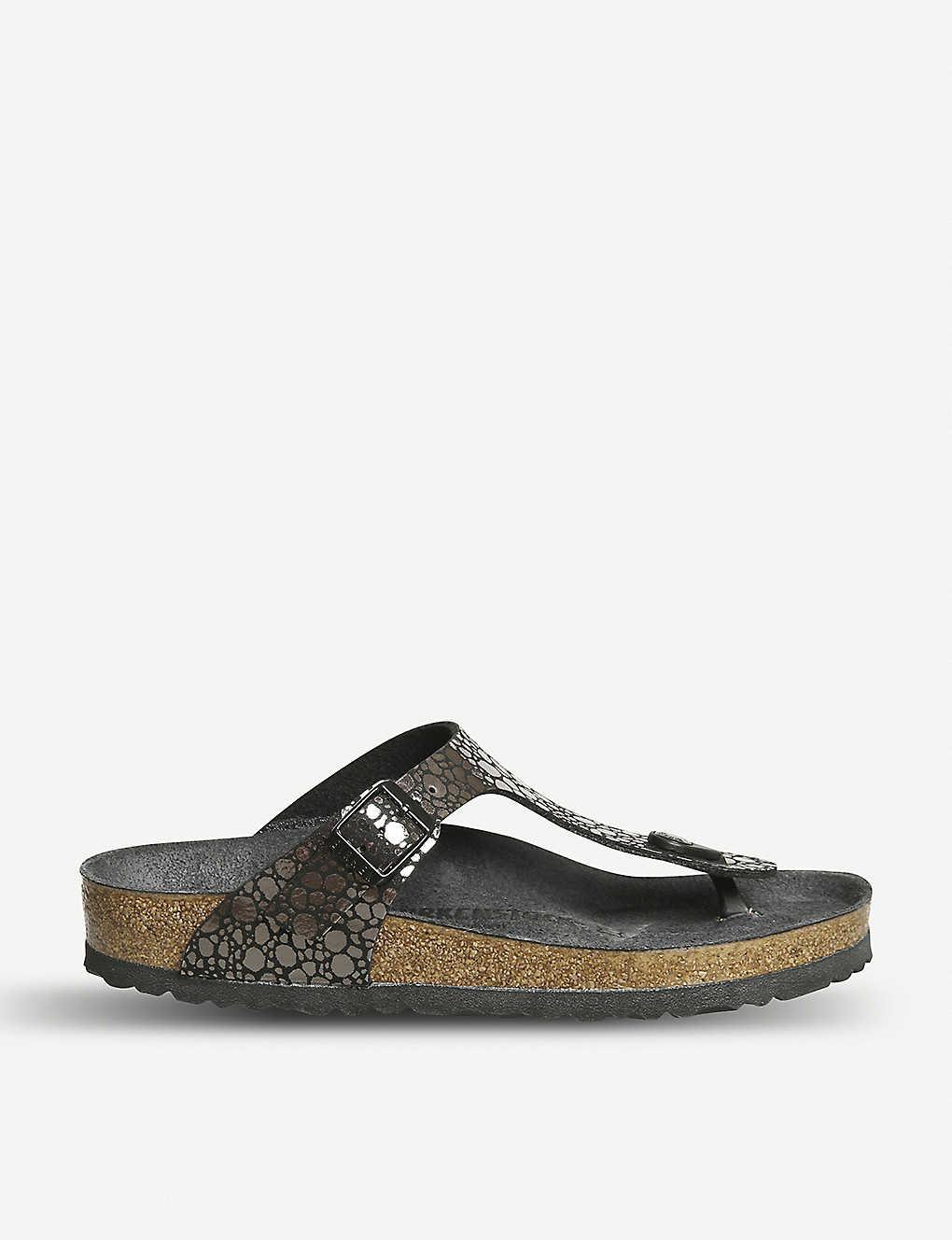 86728364c1688 BIRKENSTOCK - Gizeh metallic sandals