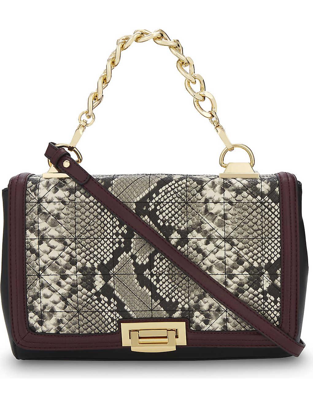 a1e075e3769 ALDO - Cutigliano python-texture faux-leather messenger bag ...