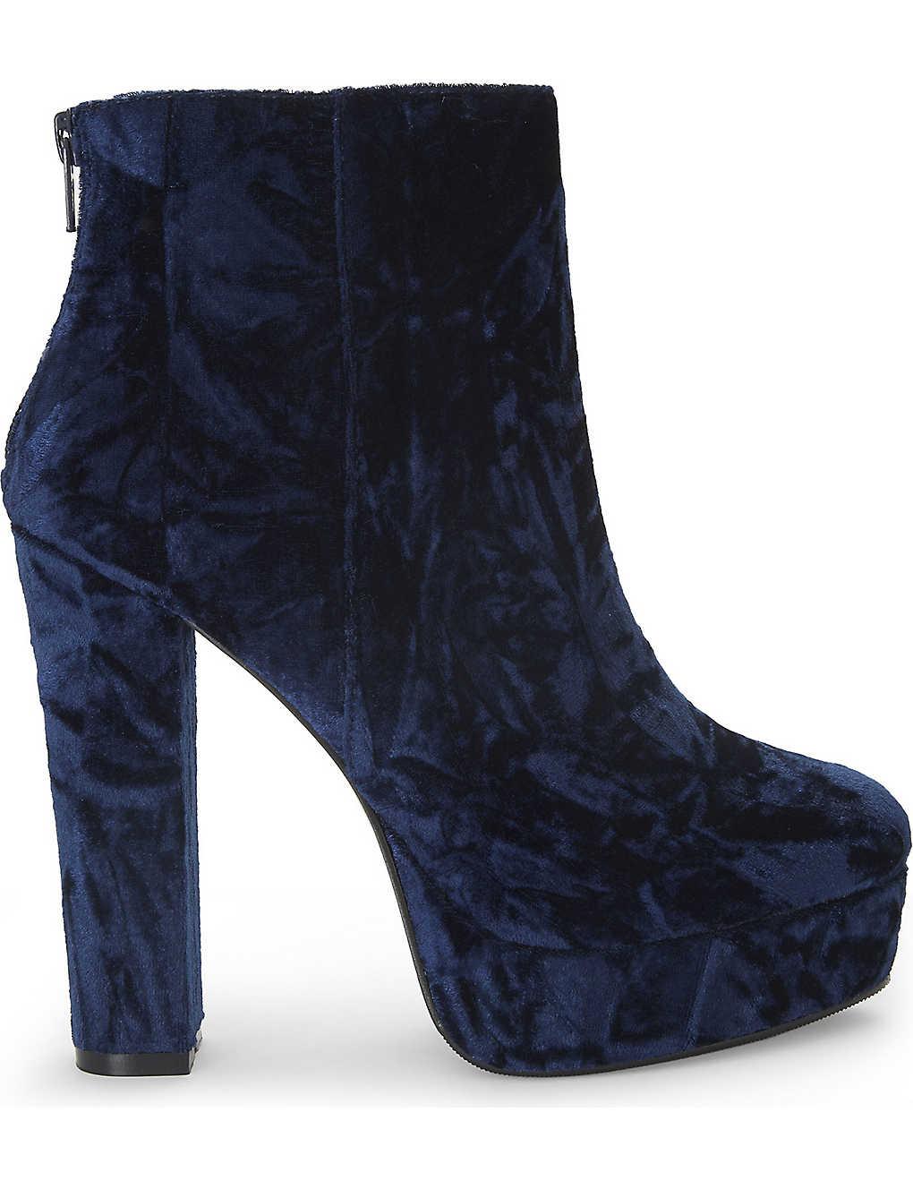 d4e109770d88 ALDO - Kasser velvet platform ankle boots