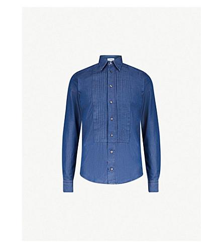 de5bb86559 ... ETON Slim-fit denim shirt (Blue. PreviousNext