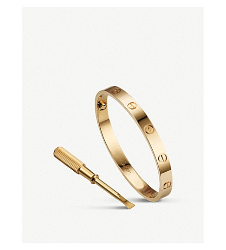 shoptagr love 18ct yellow gold bracelet by cartier