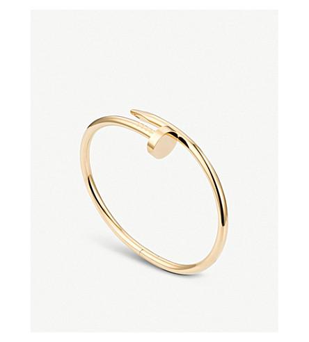 cartier juste un clou 18ct yellow gold bracelet selfridges com