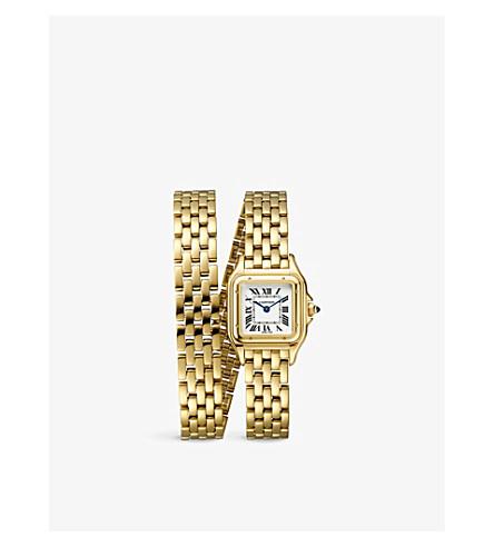 56ec217d3a95d ... CARTIER Panthère de Cartier 18ct yellow-gold watch. PreviousNext