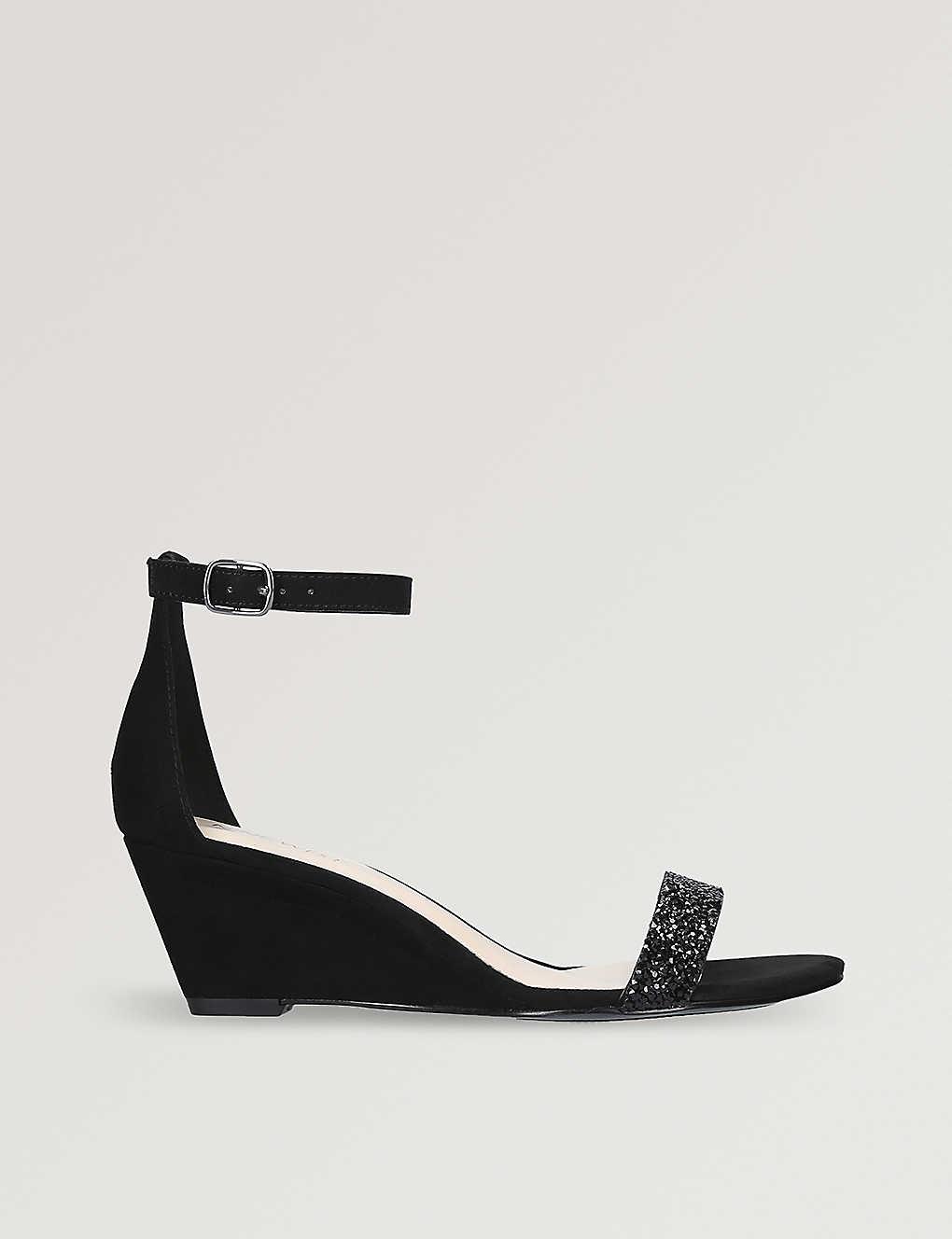 3eaf9f4496cf3 NINE WEST - Posen embellished-strap wedge sandals