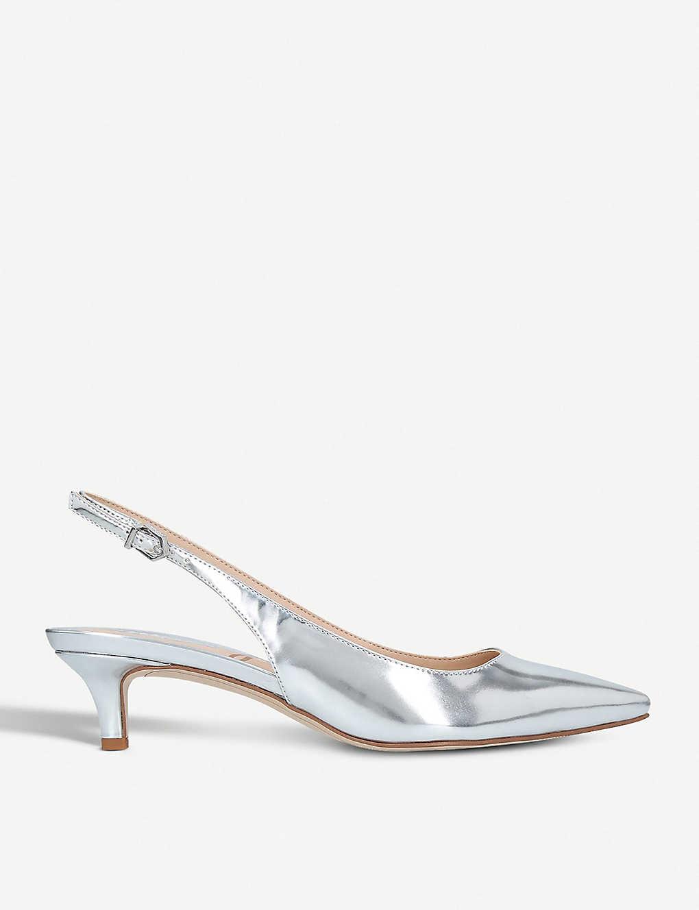 618b6d03086 SAM EDELMAN - Ludlow leather slingback kitten heels