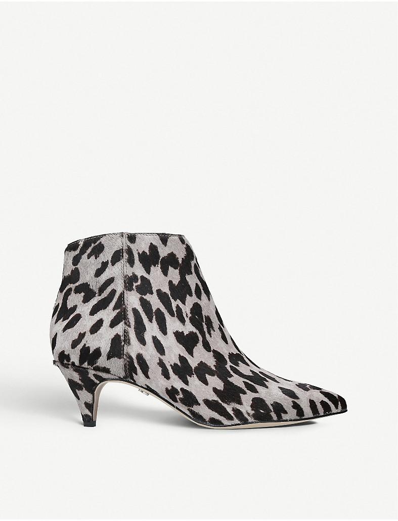 b633f2129011d5 SAM EDELMAN - Kinzey animal print brahma hair ankle boots ...