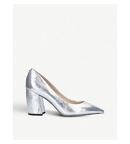 039645d4f43600 ... SAM EDELMAN Tatiana metallic leather courts (Silver. PreviousNext